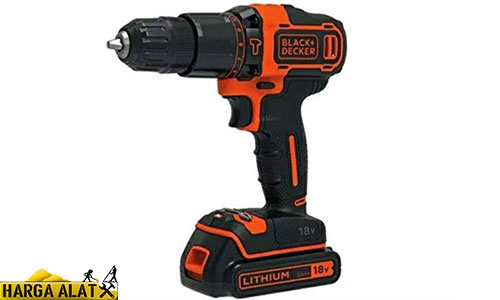 Mesin Bor Beton BLACKDECKER 18V Lithium ion 2 Gear Hammer Drill BDCHD18K