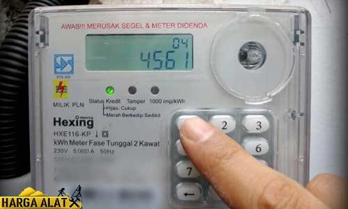 Cara Menyalakan LCD Meteran Listrik