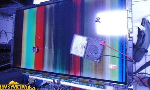 Langkah Memperbaiki TV LCD Samsung Bergaris Horizontal Vertikal