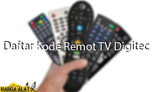 Daftar Kode Remot TV Digitec