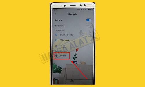 3. Cari Nama Bluetooth Mic Sambungkan