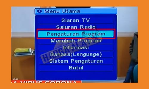 3. Pilih Pengaturan Program