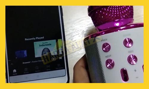 5. Menyambungkan Mic Bluetooth ke HP Berhasil