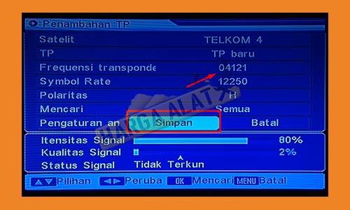 6. Pilih Penambahan Transponder