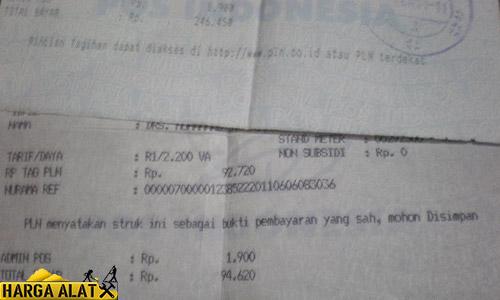 2. Lihat di Struk Pembayaran PLN