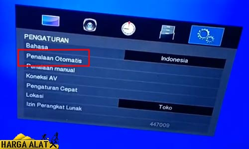 Mencari Channel TV Toshiba Otomatis