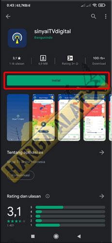 1. Download Aplikasi Sinyal TV Digital