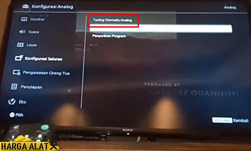 Mencari Channel TV Sony Otomatis