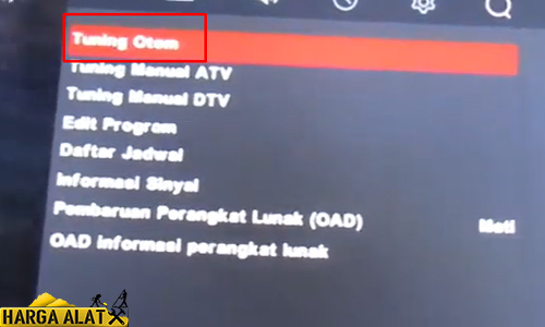 Mencari Channel TV TCL Otomatis