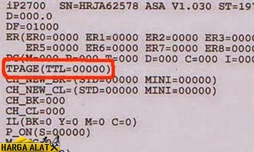 Nantinya hasil pengeprinan akan tertera tulisan TPAGETTL00000 itu menunjukan proses reset canon IP2770 telah berhasil dilakukan.