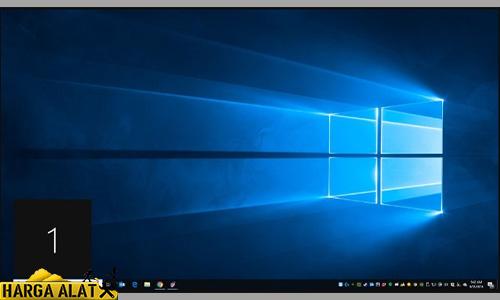 nomor yang ditetapkan untuk setiap layar akan ditampilkan di layar secara singkat.